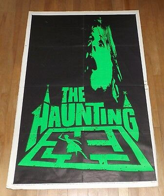 The Haunting '63 TEASER original US 1 sheet poster ADVANCE Day-Glo Green HORROR