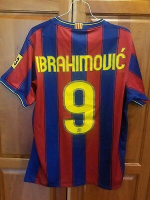 innovative design 89f5d a0c4a 2009-2010 NIKE AUTHENTIC FC Barcelona FCB Jersey Shirt IBRAHIMOVIC Medium