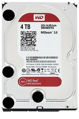 WD WD40EFRX Red 4TB NAS Hard Disk Drive 5400RPM Class SATA 6 Gb/s 64MB