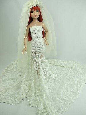 Outfit Dress Wedding Gown with veils Tonner Tyler Essential Ellowyne # 600-14
