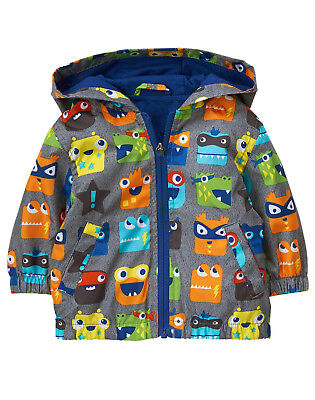 NWT Gymboree Tiny Team Monster Print Windbreaker Jacket Baby Boy