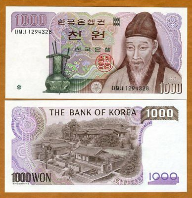 South Korea, 1000 ( 1,000 ) won, (1983), P-47, UNC