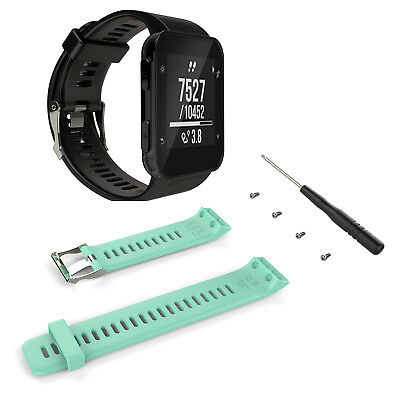 UK Soft Silicone Replacement Wrist band Watch Strap for Garmin Forerunner 35