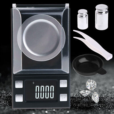 50g/100g Electronic Scales LCD Digital 0.001g Portable Milligram Jewelry Scale