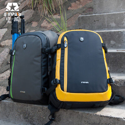 Waterproof LARGE DSLR SLR Camera Bag Backpack Rucksack Case For Nikon Sony Canon
