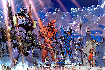 Neon Genesis Evangelion EVE   Anime  Room Wall Cloth Poster 36x24 Print 45