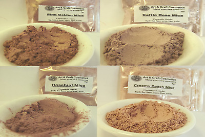 Rose Foundation Mica Collection Cosmetic Grade Mineral Makeup Blush Eye shadows