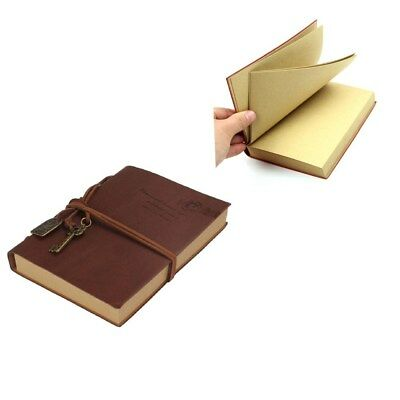 Retro Classic Vintage Leather Bound Blank Pages Journal Diary Notebook 4 Color