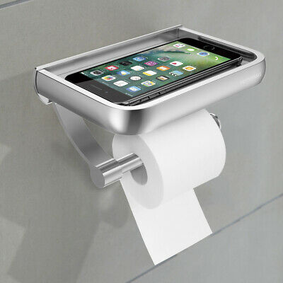 Stainless Steel Toilet Paper Roll Phone Holder Tissue Rack Bathroom Accessory AU