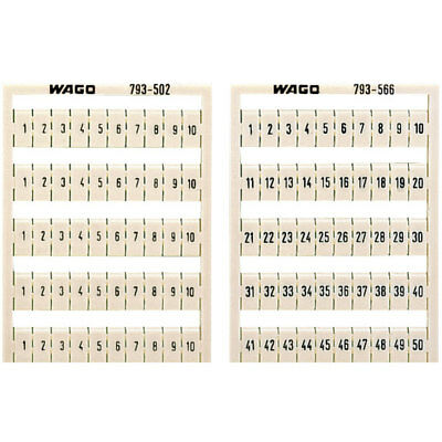 WAGO 793-3506 WMB Multiple Marking System Horizontal Marking 41 ... 50 10x White