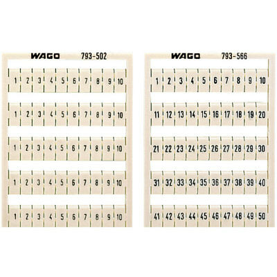 WAGO 793-5573 WMB Multiple Marking System Horizontal 91 ... 100 10x, white
