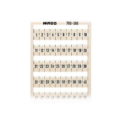 WAGO 793-566 WMB Multiple Marking System Horizontal 1 ... 50 2x, white