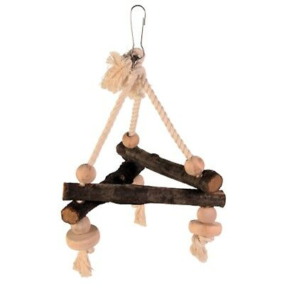 Pet Ting Natural Living Swing On Rope 16x16x16cm - Bird Pet Rope Perch Wooden