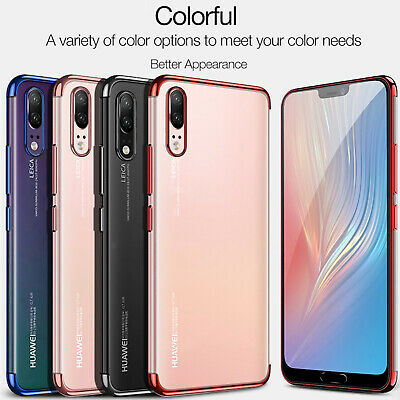 For Huawei P20 Pro Case Smart Bumper Shockproof Plating Silicone Cover P30 Lite
