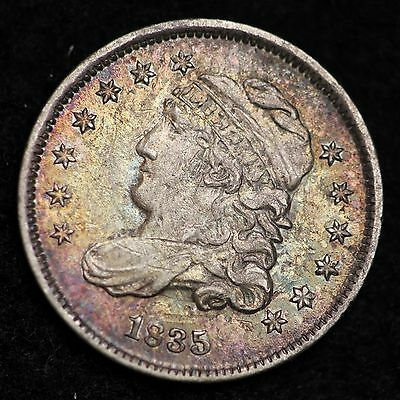 1835 Capped Bust Half Dime CHOICE UNC FREE SHIPPING E186 PT