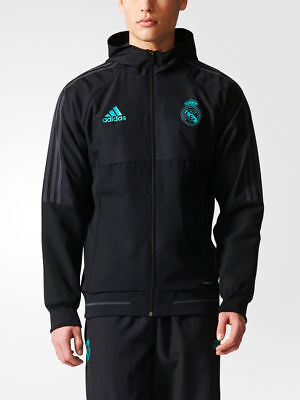 Real Madrid Adidas Jacke Training Jacke Noir Normal Präsentation 2017 18