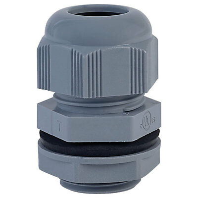 Alpha Wire PNC1 SL080 NPT Slate IP68 Dome Cable Gland Pck of 10