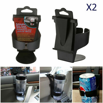 2X UNIVERSAL In Car Drinks Cup Bottle Can Bottle Holder Foldable & Clip On New