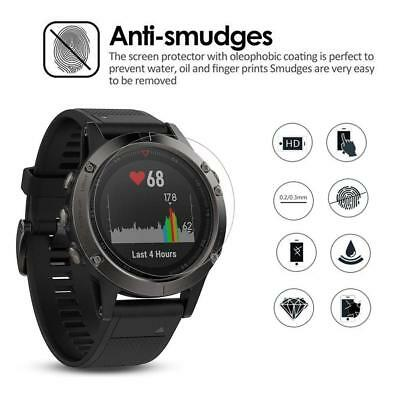 2pcs/set 9H HD Tempered Glass Screen Protector Film for Garmin Fenix 5/5S Watch