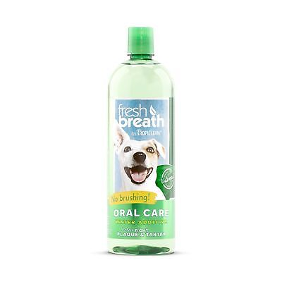 Tropiclean Fresh Breath Plaque Remover Pet Water Additive 33.8oz 33.8-Ounce