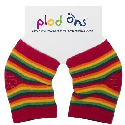 Rainbow Stripe Plod Ons Baby Toddler Crawling Knee Pads Clothing Protection