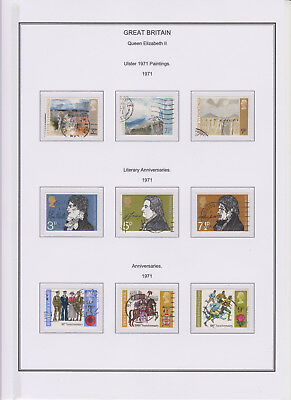 GB Used Stamp Collection 1971 Full Commemorative Year Set Complete See All Scans