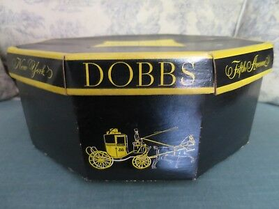 """VINTAGE DOBBS FIFTH AVENUE NEW YORK """"HAT BOX"""" with INSERT - OCTAGONAL - No Hat"""