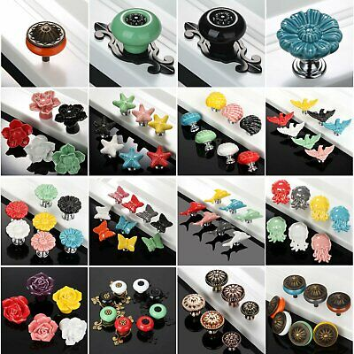 Ceramic Drawer Cabinet Knobs Cupboard Door Pull Handles Furniture Hardware Retro