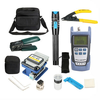 Fiber Optic FTTH Tools Kit with Optical Power Meter and Visual Fault Locator