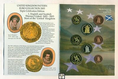 "2003 United Kingdom Euro Pattern Error Set ""No Cent on 5 Cent Coin"" (OOAK)"