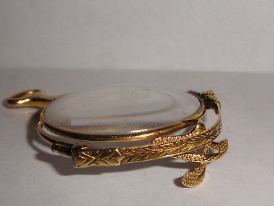 Nice Antique 14K Solid Yellow Gold Decorated Lorgnette Folding Glasses