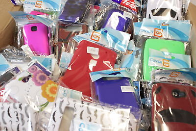 Bulk Wholesale Cell Phone Cases Box - Lot of 25 - Various Accessories