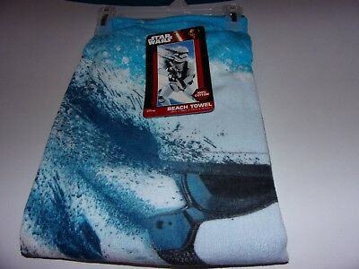 Disney Star Wars 100% Cotton Beach Towel / Bath Towel  28 x 58 / Brand New