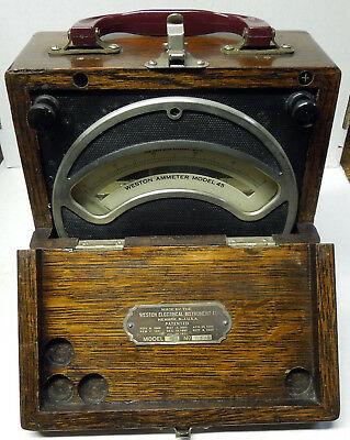 Antique Science Weston Ammeter Model 45, nice early example.