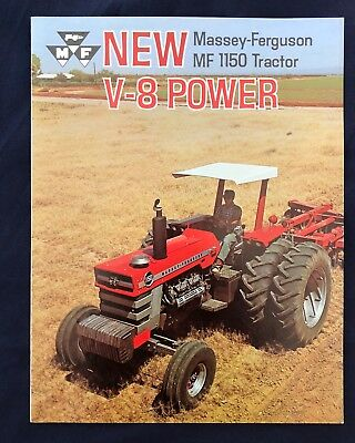 1969 MASSEY FERGUSON ** MF1150 TRACTOR ** V-8 POWER 4 Page Brochure