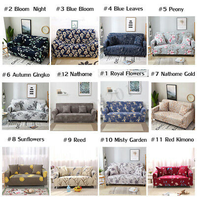 1 2 3 4 Seater Stretch Elastic Sofa Couch Cover Slipcover L Shape Protector New