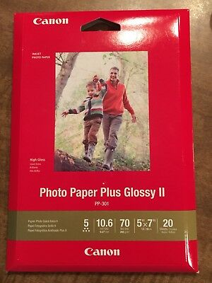 Canon Photo Paper Plus Glossy Ii Pp 301 5 X 7 20 Sheets 888