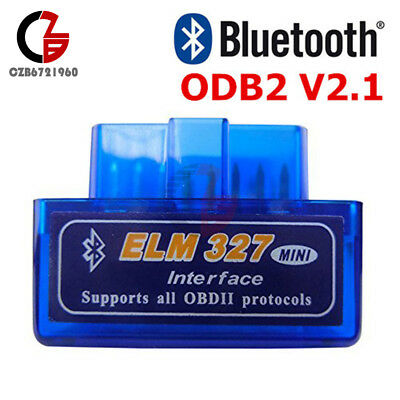 New Mini ELM327 V2.1 OBD2 ODBII Bluetooth Diagnostic Car Auto Interface Scanner