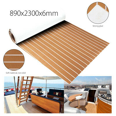 EVA Foam Synthetic Teak Decking Sheet Boat Yacht Flooring 35'' X 91'' 6MM Thick
