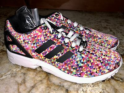 1415b6749 ... italy adidas zx flux photo print black pink blue training running shoes  new mens sz 13
