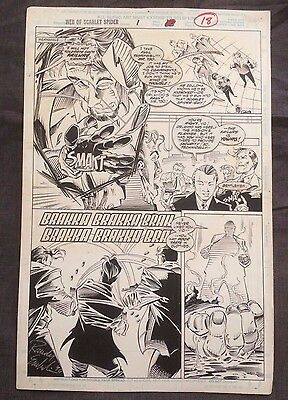 Web of Scarlet Spider #1 Original Art 1995 Page 18