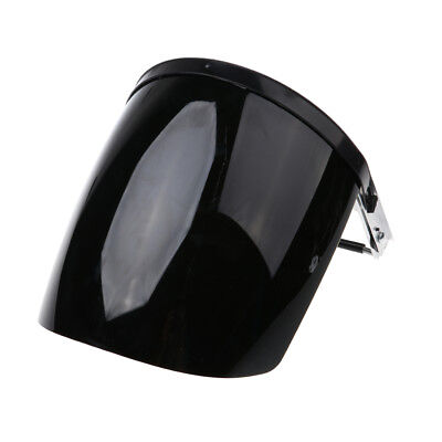 Protective Clear Black Face Shield - Light, Firm, Flame Retardant, UV-Proof