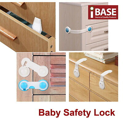 Baby Safety Drawer Door Lock Anti Finger Pinch Child Cupboard Babinet Adhesive