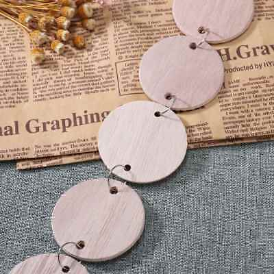 100pcs Wooden Discs Unfinished Round Wooden Circles Blank Wood Cutout Slices