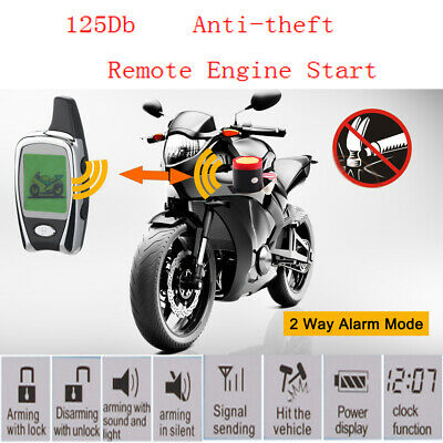 Universal Two Way Motorcycle Alarm Security System 2 Lcd Transmitters Nt-Ms002