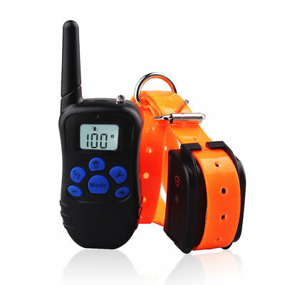LCD Shock Vibra Remote Small Med Large Dog Training Collar Rechargeable 300 Yard