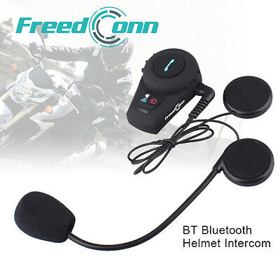 500M BT Interphone Bluetooth Motorbike Motorcycle Helmet Intercom Headset GPS FM