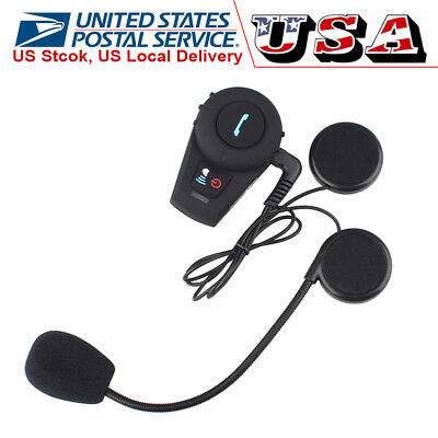 Bluetooth Intercom BT Motorcycle Helmet Interphone Headset communication Kit FM