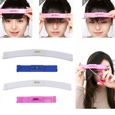 2pcs/Set Professional Hair Bangs Cutting Clip Comb Hairstyle Trim Ruler Tool Kit