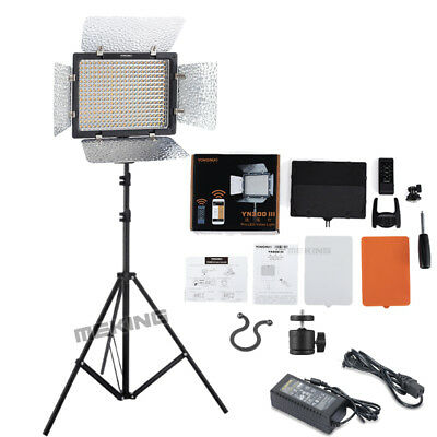 Yongnuo YN300III Pro LED Video Studio Light 3200K-5500K +Lighting Stand Ballhand